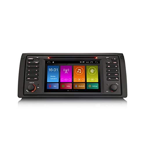 ERISIN Autoradio Android 10.0 da 7 pollici per BMW Serie 5 E39 E53 X5 M5 Supporto audio GPS Navigatore satellitare CarPlay Android Auto Bluetooth A2DP Wifi 4G DAB + Mirror Link TPMS DSP Amplificatore