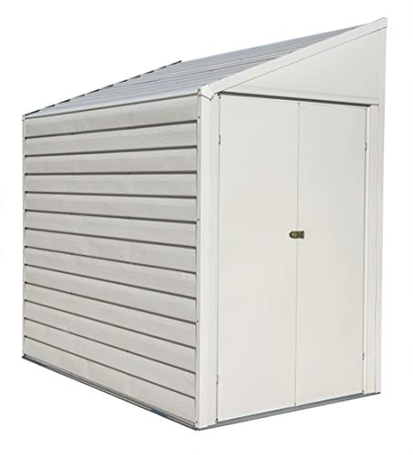 Arrow Shed 4  x 7  Yardsaver Compact Galvanized Steel Storage Shed with Pent Roof