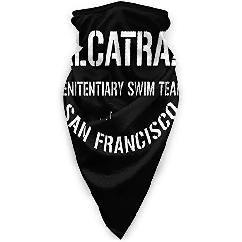Nonebrand Alcatraz - Polainas para el cuello y el cuello, unisex, resistente al viento, protección contra el polvo, multifuncional, color negro, tamaño talla única
