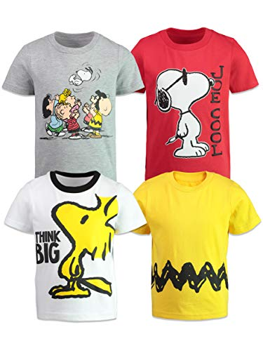 Peanuts Snoopy Charlie Brown Woodstock Toddler Boys T-Shirts 4 Pack 5T