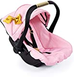Bayer Design 67990AA, Silla de Coche Easy Go con cinturón, Accesorios, Asiento para bebé de Muñecas, Moderno, Rosa, Oro, Color Pajarita