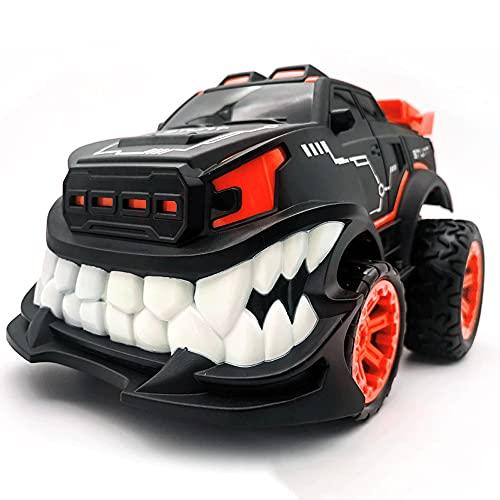 KGUANG Devil's Big Teeth Stunt RC Car 360 ° Rotación vertical 2.4G Camión de control remoto Anticolisión Resistente al desgaste USB Buggy de juguete eléctrico para niños Iluminación fresca Vehículo de