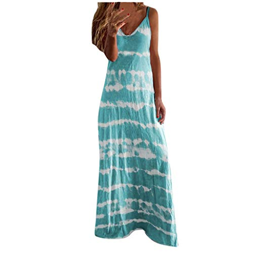 Best Buy! Toimothcn Women's Camis Long Dress Spaghetti Straps Striped Printed Loose Casual Maxi Dres...