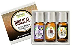 Biblical Set 100% Pure Therapeutic Grade Aromatherapy Essential Oil Gift: Myrrh Frankincense Spikenard
