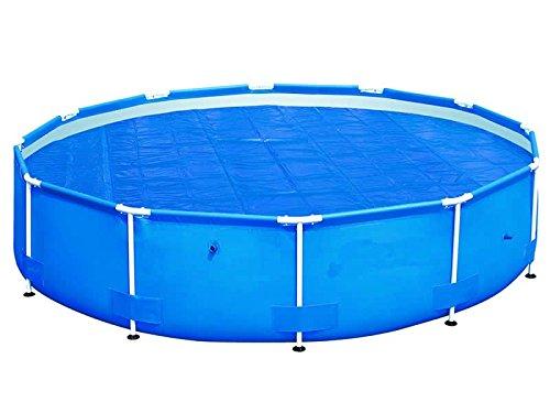 HAFIX Solarplane Cover für runde Pools Ø 488 cm - Planengröße Ø 470cm - Poolplane Solarabdeckplane Poolheizplane in blau