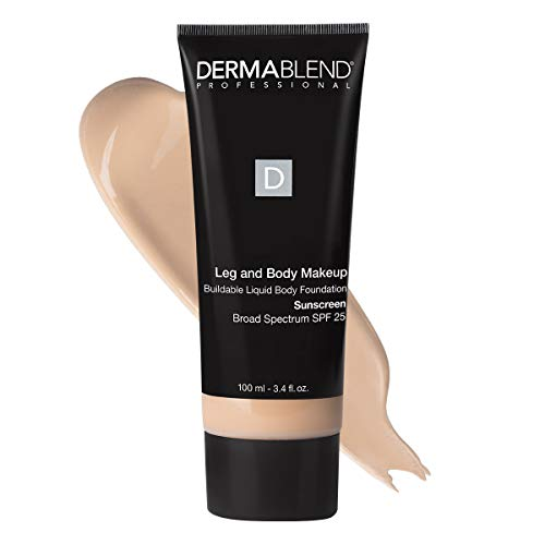 Dermablend Leg and Body Makeup Foundation with SPF 25, 0N Fair Nude, 3.4 Fl. Oz.