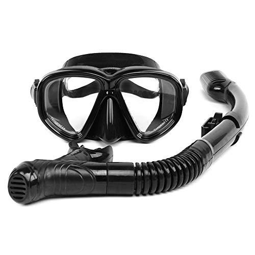 Andoer Conjunto de óculos para mergulho com snorkel para mergulho com snorkel e vidro temperado antiembaçante Equipamento para máscara de mergulho com snorkel