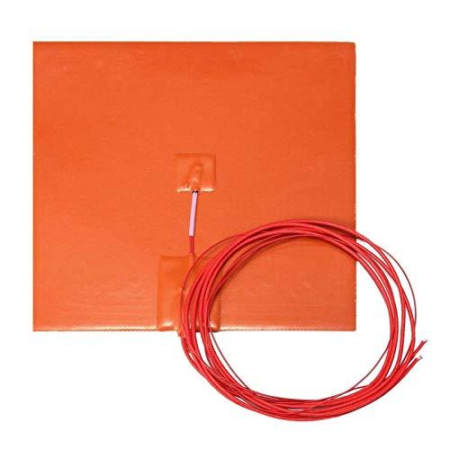 XBaofu 1pc 20x20cm Impermeable Flexible de Silicona Calentador Cojín de Cables eléctricos Almohadillas eléctricas for la Impresora 3D Parte calentada Cama Calefacción Mat 200W 12V AC