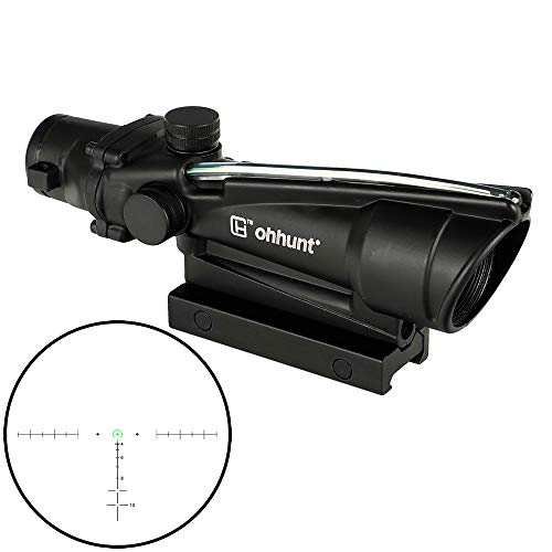 Buy Bargain ohhunt 5x35 Hunting RifleScopes Red or Green Glass Etched Reticle Real Fiber Optics Tact...
