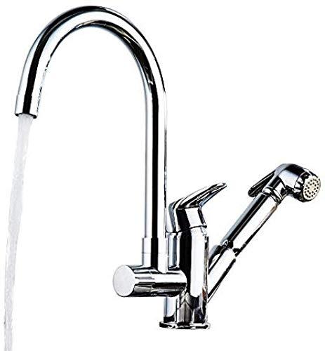 Keuken warm en koud water waterkraan uittrekbare waterkraan koper roterende telescoop keuken badkamer spatwaterdichte waterkraan