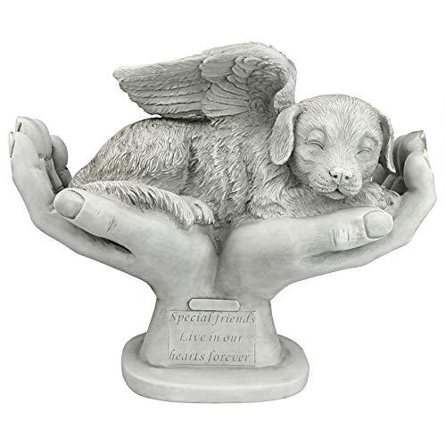 Design Toscano In God's Hands Dog Memorial Statue