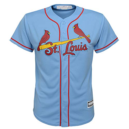 Outerstuff MLB 8-20 Youth Blank Cool Base Alternate Color Team Jersey (X-Large 18/20, St Louis Cardinals Alternate Blue)
