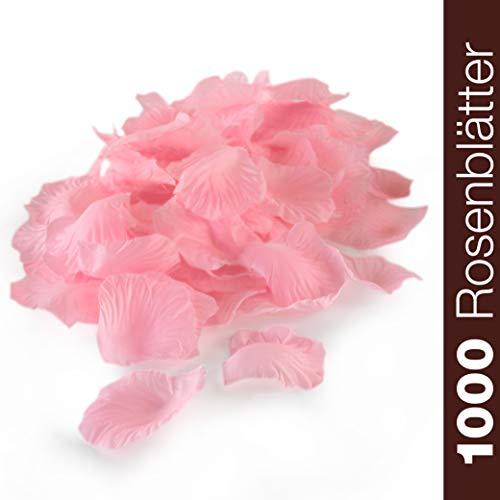 WeddingTree 1000 Pétalos de Rosa Sueltos Rosa - Ideales para Bodas, d