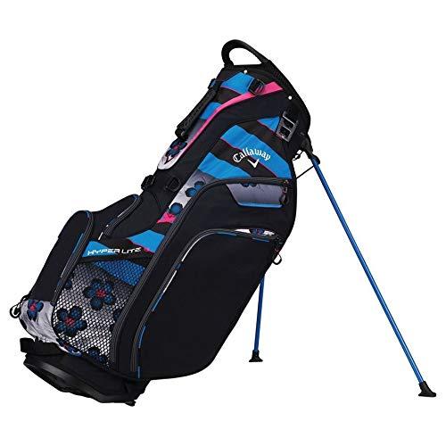 Callaway Golf 2018 Hyper Lite 5 Stand Bag, Black/ Blue/ Pink