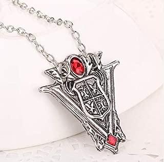 Davitu Timeless Classic Twilight Saga Eclipse Silvery Necklace Pendant New Moon Volturi Crest Jewelry Antique Silver Antique Gold - (Metal Color: Antique Silver Plated)