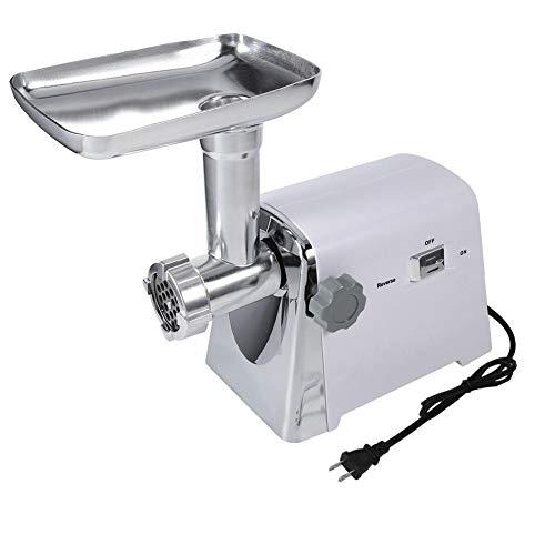 【𝐏𝐚𝐬𝐜𝐮𝐚】 Máquina para picar carne, máquina para hacer salchichas picadora de carne industrial eléctrica 1600W con 3 cuchillas de corte