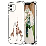 Hepix Giraffe iPhone 11 Case Cute Lovely Animals iPhone 11 Cover, Slim Flexible TPU Frame with Reinforced Bumpers Camera Protection Anti-Scratch Shock Absorbing Case for iPhone 11 2019 (6.1')