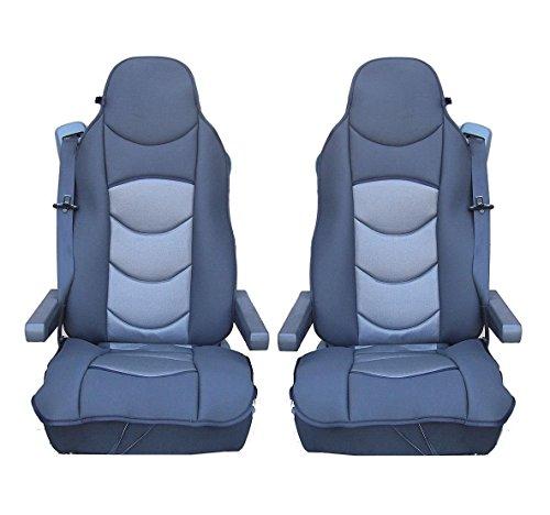 Set van 2 grijze autostoelhoezen, stoelhoezen, hoogwaardig polyester, in originele verpakking.