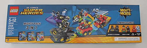 LEGO DC COMICS Super Heroes Mighty Micros 3 IN 1 Box Set - Batman vs Catwoman, Robin vs Bane, The Flash vs Captain Cold