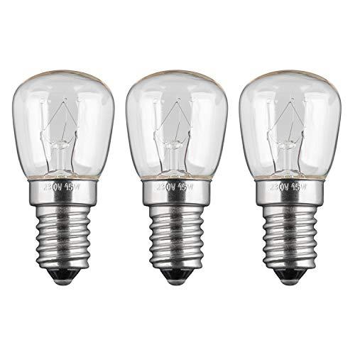 3x Kühlschranklampe | 15W | E14 | 230V | 2200 K | warm-weiß | Birne Lampe Glühbirne Glühlampe Leuchtmittel für Kühlschrank Kühlschrankglühbirne | warmweiß | 3 Stück