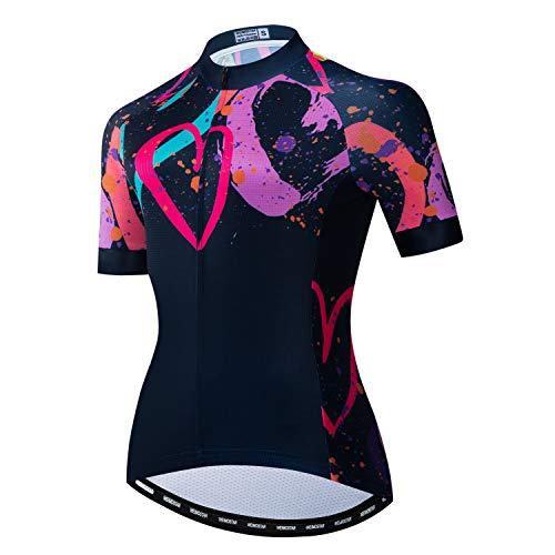 weimostar Damen-Radtrikot, schnelltrocknend, atmungsaktiv, für Mountainbike, Sport, Rennsport Gr. XX-Large, 56
