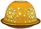 Him Dom Light Sun Portacandela Antivento, Ceramica, Bianco, 11x11x9 cm...