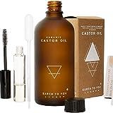 100% puro orgánico aceite de ricino. hexano libre, prensado en frío, no OMG para el cabello, pestañas y cejas crecimiento. Reparación pelo, hidrata la piel y labios. 3,4oz–por tierra a usted