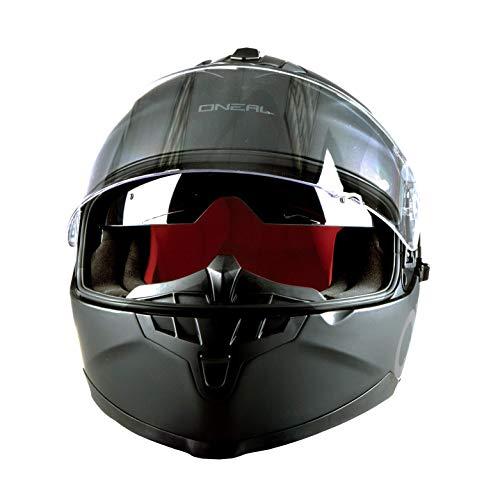 O'NEAL | Motorradhelm | Enduro Adventure Street | Sicherheitsnormen DOT und ECE 22.05, ABS-Schale, integrierte Sonnenblende | Challenger Helmet Flat | Erwachsene | Schwarz | Größe M