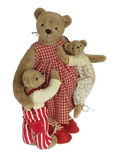 Muttertagsgeschenk Clemens Sammler Teddy Mutter Glück, 33 cm, limitiert, mit Kindern, Geschenkidee zu Muttertag