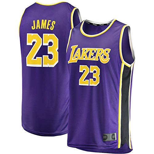 DHDFS Angeles Jersey Lakers #23 Training Kinder Basketball Lila Trikots Lebron Los Basketball Heimtrikot Basketball James Jersey Weste