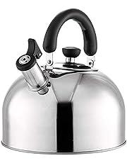Fornuis Inductie Fluitketel, roestvrij staal Waterkoker Theepot Koffiepot Heet waterdispenser Fluitketel met isolatiehandvat voor gas Alle kookgerei, voor thuis, op kantoor, buiten