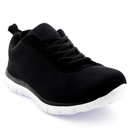 Mujer Get Fit Mesh Go Ejecutarning Atlético Caminar Zapatos Ejecutar - Negro/Blanco - 37