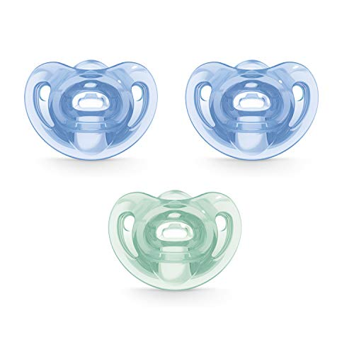 NUK Sensitive Orthodontic Pacifiers 06 Months 3 Pack Boy