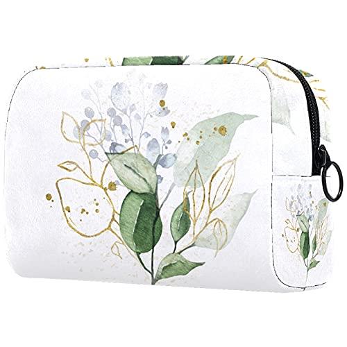 KAMEARI Kosmetyczka akwarela złoto bukiet ziół duża kosmetyczka organizer wielofunkcyjne torby podróżne