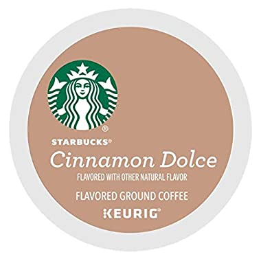Starbucks Cinnamon Dolce Coffee single serve capsules for Keurig K-Cup pod brewers (72 Count)