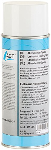 AGT Alles dicht Spray: Allesdichter-Spray, weiß, 400 ml (Abdichtungsspray)