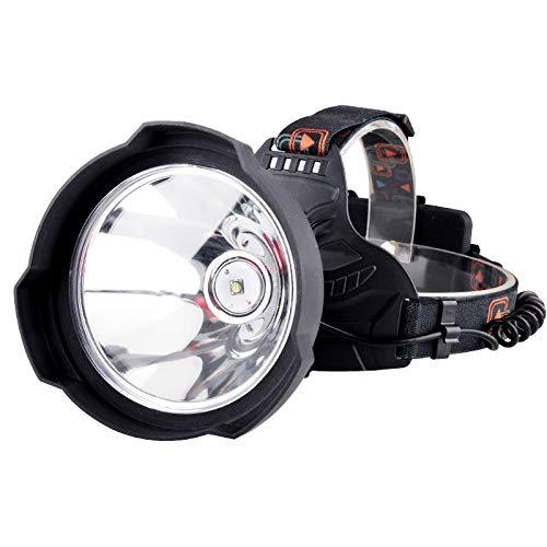 Linterna frontal LED de 35000 lúmenes, luz LED superbrillante recargable por USB, lámpara de cabeza de casco duro de uso potente, 18650