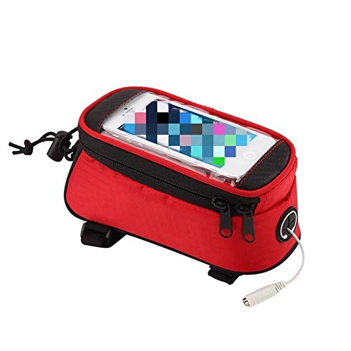 Fietsframentas, waterdicht, veld, voorhoofdslang, fiets-zak, voordrager, REIT mobiele telefoonzak, touchscreen-fiets-accessoire voor outdoor MTB (kleur: chocolade)