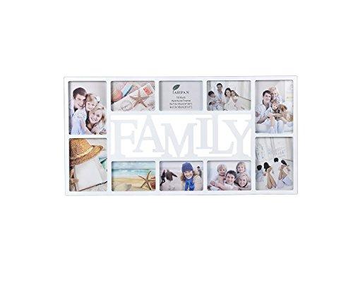 ARPAN Familj flera bilder för 10 foton, plast, vit, L 71 x D36 x H3 cm