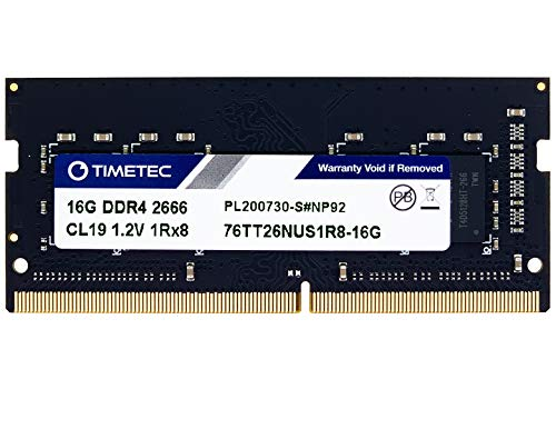 Timetec Hynix IC 16 GB DDR4 2666 MHz PC4-21300 / PC4-21333 Unbuffered Non-ECC 1.2 V CL19 1Rx8 Singolo...