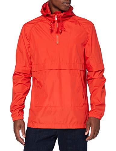 Marca Amazon - find. Cortavientos Hombre, Rojo (Red), S, Label: S