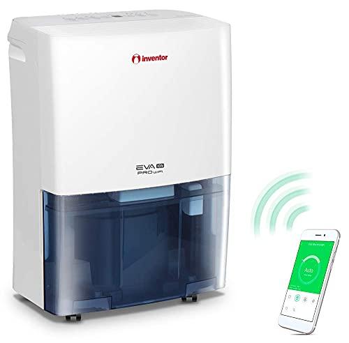 Deshumidificador Inventor EVA ION PRO WiFi 16 litros/día - Con Acceso Remoto, Ionizador, Filtro HEPA y Filtro de Carbón Activado, Secador De Ropa y Modo Inteligente para Máximo Ahorro de Energía