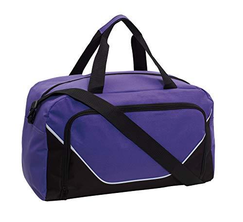 Preiswert&Gut Sporttasche 48x22x28cm Fitnesstasche 410Gr Umhängetasche (Lila)