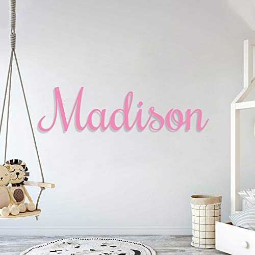 Multiple Font Custom Name Nursery Wall Decal - Mural Wall Decal Sticker for Home Children's Bedroom, Car & Laptop (OP004)