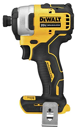 DEWALT DCF809B Atomic 20V Max Brushless Cordless Compact 1/4 In. Impact Driver (Tool Only) (Renewed)