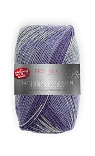 Pro Lana Fjord Socks Farbe 192, Sockenwolle musterbildend, Wolle Norwegermuster zum Stricken, 100g, 400m