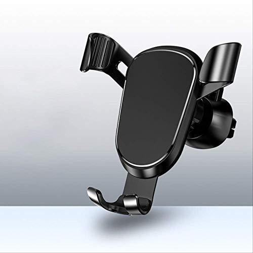 mengzhifei Soporte para Teléfono para Automóvil por Gravedad, Adecuado para Soporte para Teléfono Móvil con Ventilación, Adecuado para Soporte para Teléfono Móvil Negro
