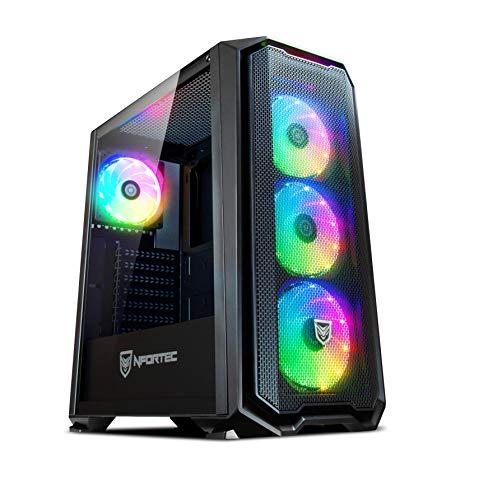 Torre Gaming Nfortec Krater para PC con Cristal Templado y 4 Ventiladores...
