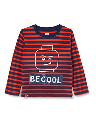 LEGO Jungen MW - Langarmshirt mit Wendepailletten T-Shirt, 345 Red, 146
