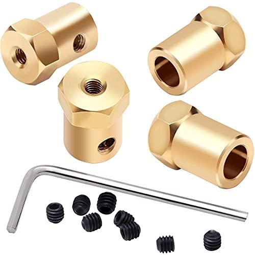 LUYIPINGQIWND Herramientas para el hogar 3 mm 4 mm 5 mm 6 mm 7 mm Conector de Acoplamiento de Acoplamiento Flexible de Acoplamiento Flexible para Ruedas de Coche Eje de neumáticos